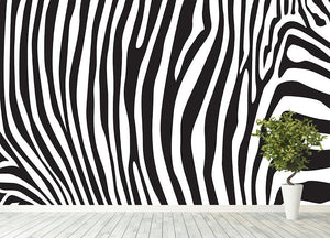 Zebra stripes pattern Wall Mural Wallpaper - Canvas Art Rocks - 4