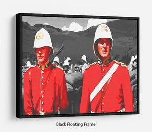 Zulu Soldiers Floating Frame Canvas