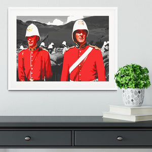 Zulu Soldiers Framed Print - Canvas Art Rocks - 5