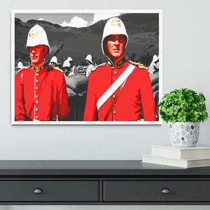 Zulu Soldiers Framed Print - Canvas Art Rocks -6