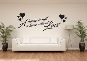 A Home With Love Wall Sticker - Canvas Art Rocks - 1