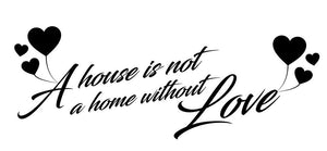 A Home With Love Wall Sticker - Canvas Art Rocks - 2