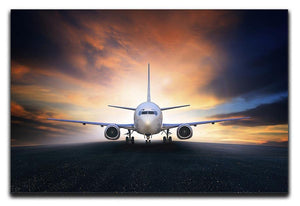 air plane preparing to take off Canvas Print or Poster  - Canvas Art Rocks - 1