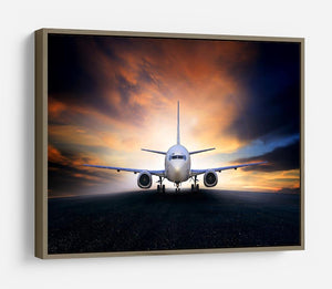 air plane preparing to take off HD Metal Print