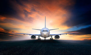 air plane preparing to take off Wall Mural Wallpaper - Canvas Art Rocks - 1