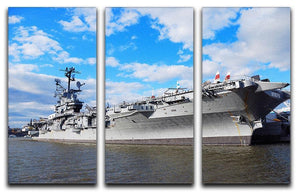 aircraft carriers built during World War II 3 Split Panel Canvas Print - Canvas Art Rocks - 1