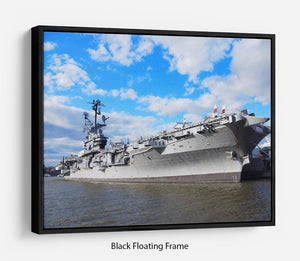 aircraft carriers built during World War II Floating Frame Canvas