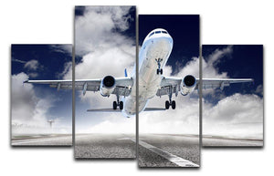 airplane take-off 4 Split Panel Canvas  - Canvas Art Rocks - 1