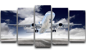 airplane take-off 5 Split Panel Canvas  - Canvas Art Rocks - 1