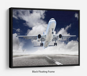 airplane take-off Floating Frame Canvas