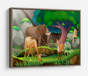 animals in the jungle HD Metal Print