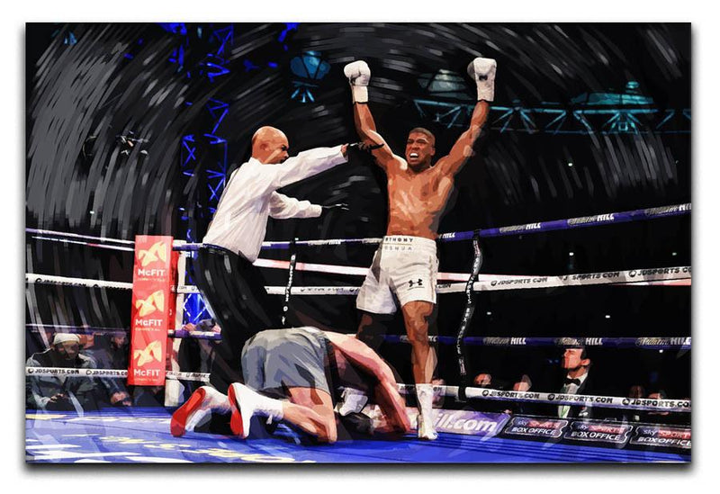 Anthony Joshua vs Klitschko Canvas Print & Poster - Canvas Art Rocks
