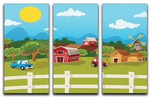 apple garden in rural landscape 3 Split Panel Canvas Print - Canvas Art Rocks - 1