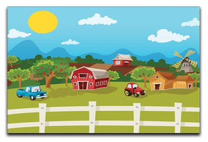 apple garden in rural landscape Canvas Print or Poster  - Canvas Art Rocks - 1