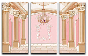 ballroom of magic castle 3 Split Panel Canvas Print - Canvas Art Rocks - 1