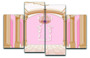 ballroom of magic castle 4 Split Panel Canvas  - Canvas Art Rocks - 1