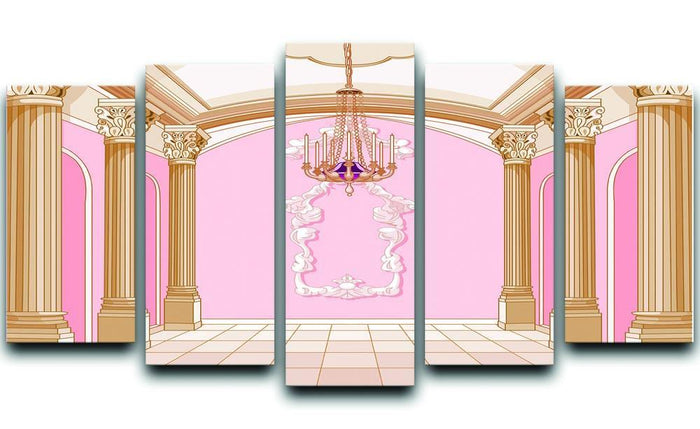 ballroom of magic castle 5 Split Panel Canvas