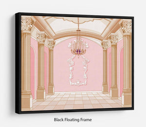 ballroom of magic castle Floating Frame Canvas
