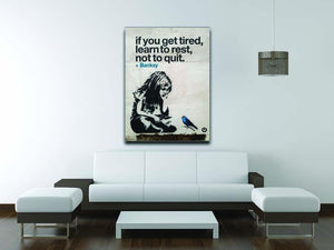 banksy if you get tired Canvas Print or Poster - Canvas Art Rocks - 4