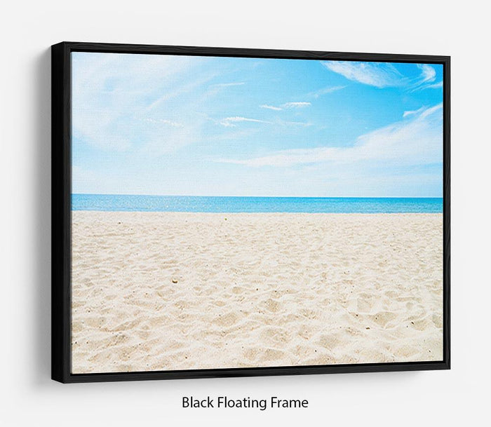 beach background with copy space Floating Frame Canvas