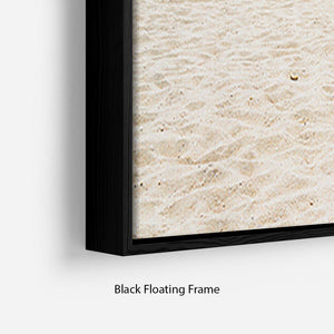 beach background with copy space Floating Frame Canvas - Canvas Art Rocks - 2