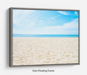 beach background with copy space Floating Frame Canvas - Canvas Art Rocks - 3