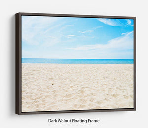 beach background with copy space Floating Frame Canvas - Canvas Art Rocks - 5