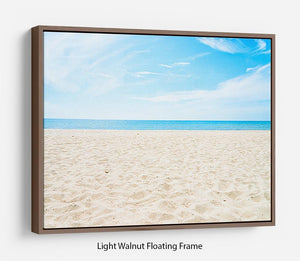 beach background with copy space Floating Frame Canvas - Canvas Art Rocks 7