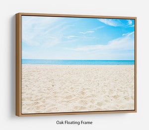 beach background with copy space Floating Frame Canvas - Canvas Art Rocks - 9