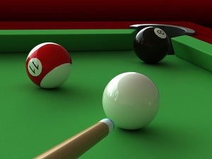 billiard balls and table Wall Mural Wallpaper - Canvas Art Rocks - 1