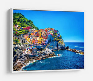 colorful cityscape on the mountains HD Metal Print