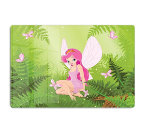 cute fairy into magic forest HD Metal Print