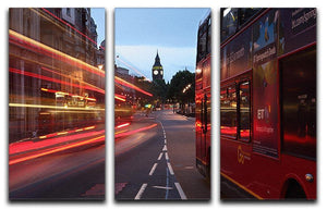 dawn breaking over the city of westminster 3 Split Panel Canvas Print - Canvas Art Rocks - 1