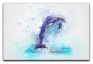 dolphin Painting Canvas Print or Poster  - Canvas Art Rocks - 1