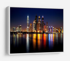 dusk Palm Jumeirah skyline view HD Metal Print