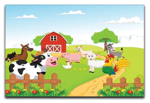 farm animals with background Canvas Print or Poster  - Canvas Art Rocks - 1