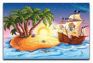 island with a pirate ship Canvas Print or Poster  - Canvas Art Rocks - 1