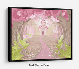 magic fairy tale princess castle Floating Frame Canvas