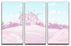 magic princess castle 3 Split Panel Canvas Print - Canvas Art Rocks - 1