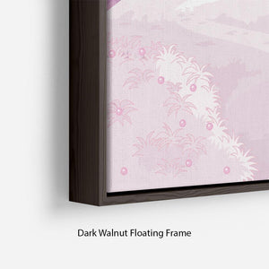 magic princess castle Floating Frame Canvas