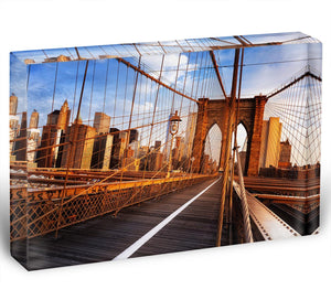 morning on the famous Brooklyn Bridge Acrylic Block - Canvas Art Rocks - 1