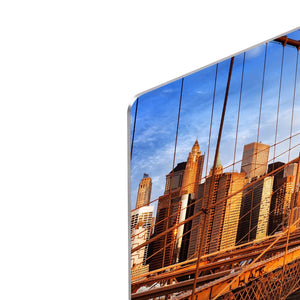 morning on the famous Brooklyn Bridge HD Metal Print