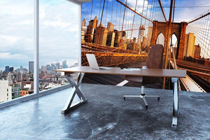 morning on the famous Brooklyn Bridge Wall Mural Wallpaper - Canvas Art Rocks - 3