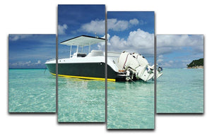motor boat at Boracay island 4 Split Panel Canvas  - Canvas Art Rocks - 1