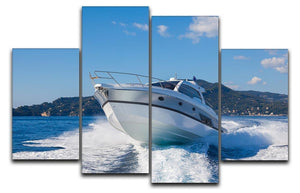 motor boat yachts Italy 4 Split Panel Canvas  - Canvas Art Rocks - 1