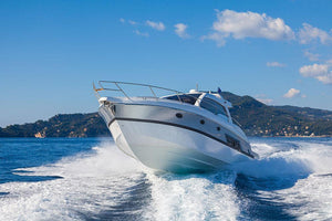 motor boat yachts Italy Wall Mural Wallpaper - Canvas Art Rocks - 1