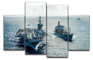 navy crossing the ocean 4 Split Panel Canvas  - Canvas Art Rocks - 1
