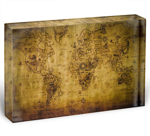 old map Acrylic Block - Canvas Art Rocks - 1