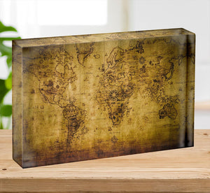 old map Acrylic Block - Canvas Art Rocks - 2