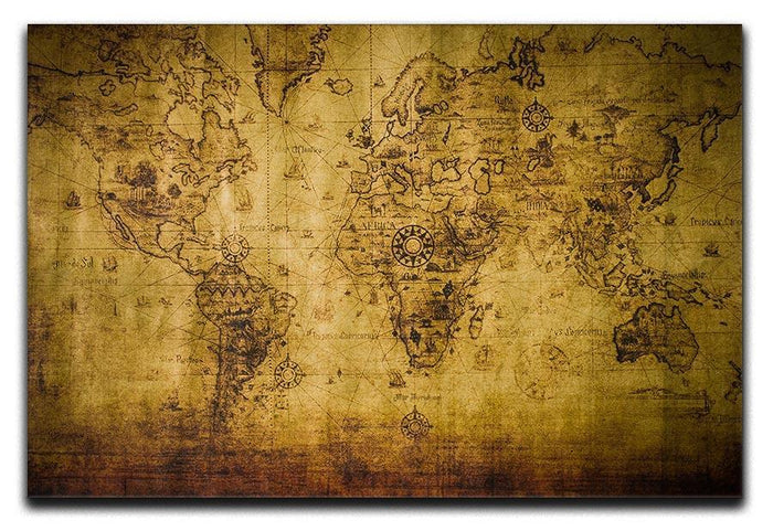 old map Canvas Print or Poster